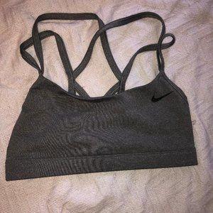 Gray Nike Sports Bra XS strappy back